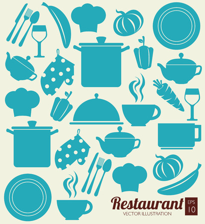 food design over vintage background vector illustration Vector