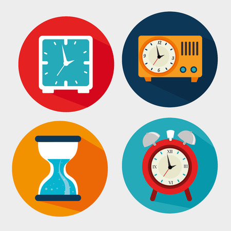 clock design over gray background vector illustration Vector