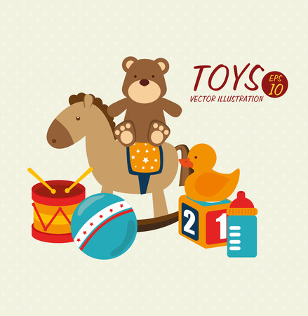 baby toys design over beige background vector illustration  Vector