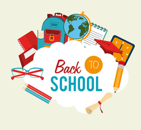 classes schedule: back to school over  background vector illustration  Illustration