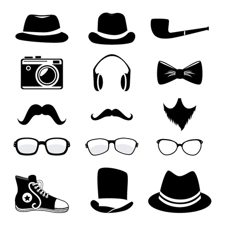 hipster design over white background vector  illustration   Vector