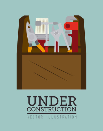 construction tools over gray background vector illustration Vector