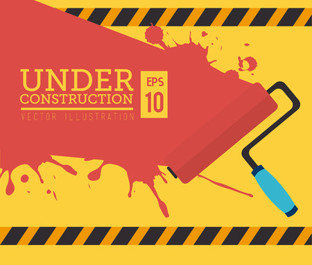 construction: construction tools over yellow background vector illustration Illustration