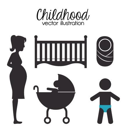 childhood design over white background vector illustration Vector