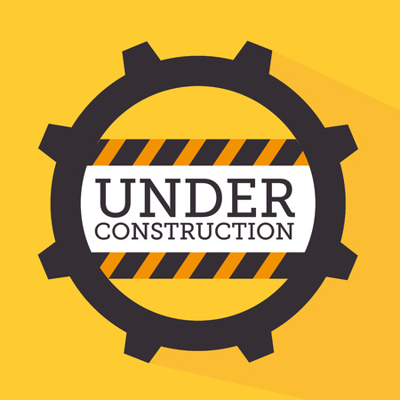 construction tools over yellow background vector illustration Vector