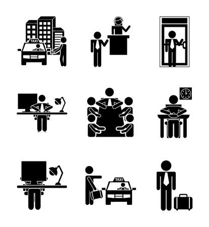 daily routine: rutina diaria sobre fondo blanco, ilustraci�n vectorial Vectores