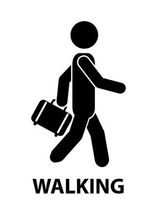 people walking: transport design over  white background, vector illustration