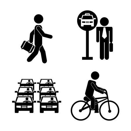 transport design over white background, vector illustration Illustration