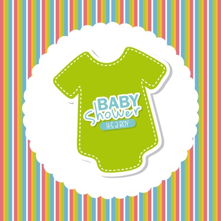 baby shower design over  background, vector illustration Vector
