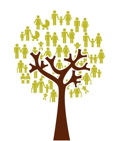 diseño de la familia sobre el fondo blanco, ilustración vectorial