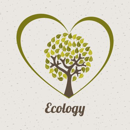 enviromental: ecology design over beige background, vector illustration Illustration