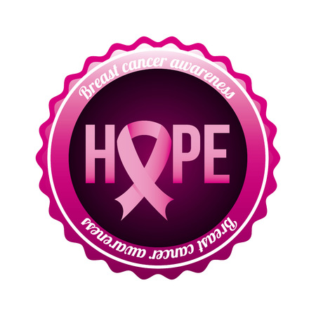 Breast cancer design over white background, vector illustration Stock Vector - 26729435