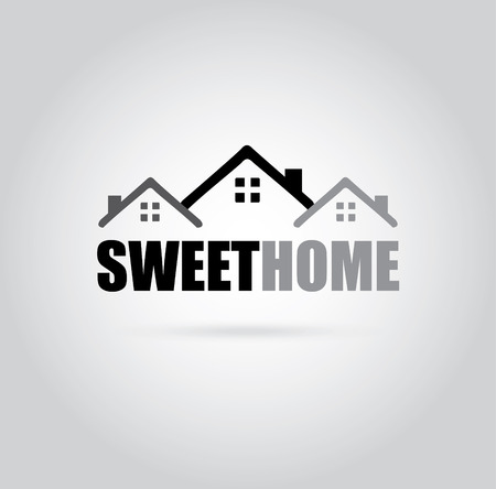 hometown: Home design over gray background, vector illustration Illustration