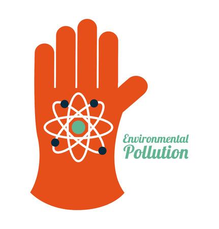 hazzard: pollution design over white background,vector illustration