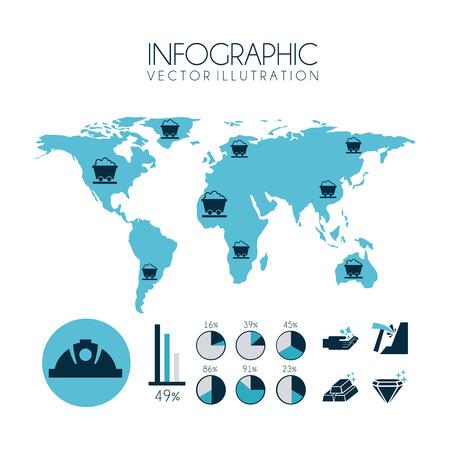 industry design over white background, vector illustration Vector
