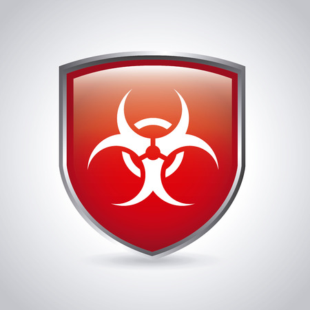 hazzard: danger zone symbol over  background, vector illustration Illustration