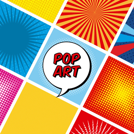 fission: pop art design over colorful background, vector illustration Illustration
