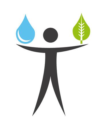 ahorrar agua: dise�o ecolog�a sobre el fondo blanco, ilustraci�n vectorial