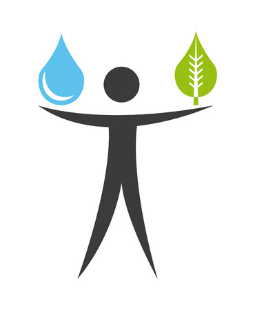 save water: ecology design over white background, vector illustration