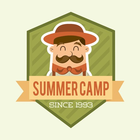 summer camp design over beige backgroun, vector illustration Vector