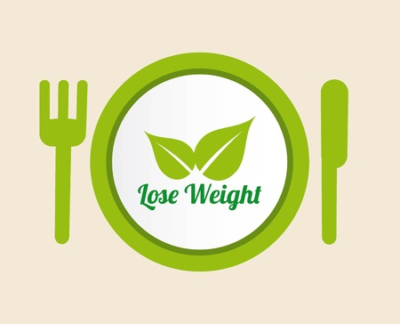 over weight: lose weight over beige background, vector illustration Illustration