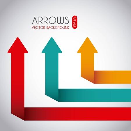 indicative: arrows design over white background, vector illustration Illustration