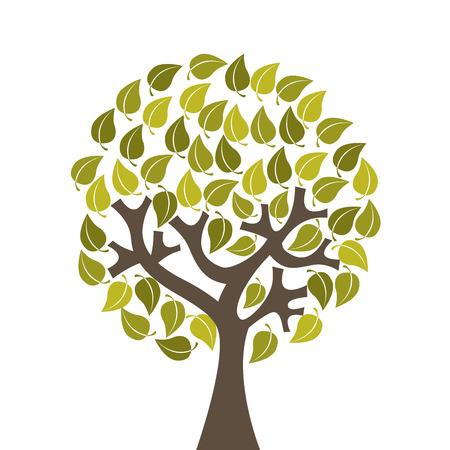 enviromental: dise�o ecolog�a sobre el fondo blanco, ilustraci�n vectorial