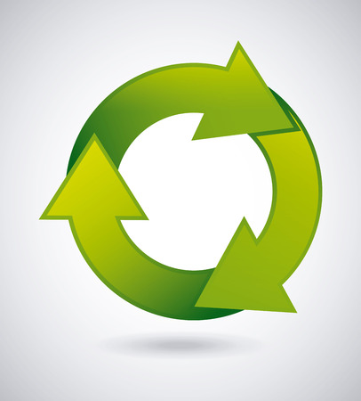enviromental: Recycle design over gray background, vector illustration