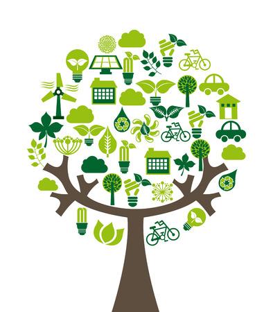 diseño ecología sobre el fondo blanco, ilustración vectorial