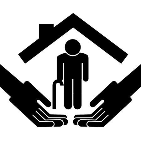 �ltere menschen: eld-Design auf wei�em Hintergrund, Vektor-Illustration