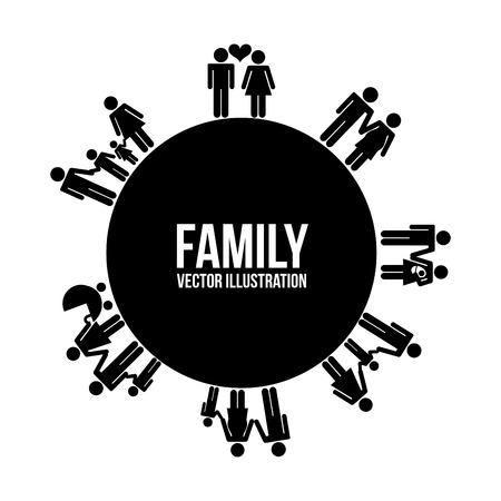 familiar: family design over white background, vector illustration