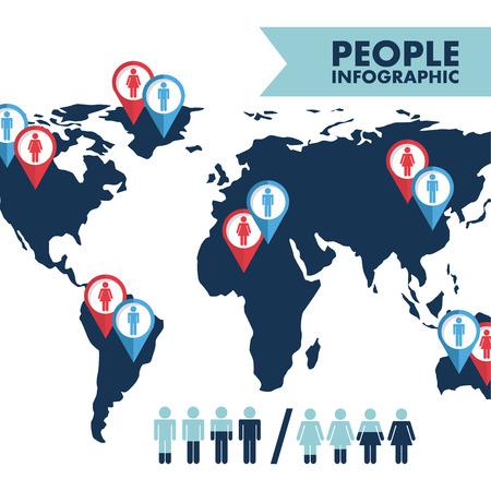 People design over white background, vector illustration