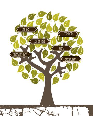 Conception de la famille sur fond blanc, illustration vectorielle Banque d'images - 26728726