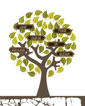familiar: Family design over white background, vector illustration Illustration