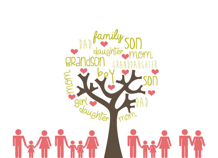 a generation: Family design over white background, vector illustration Illustration