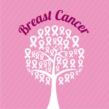 Breast cancer design over pink background, vector illustration Vector