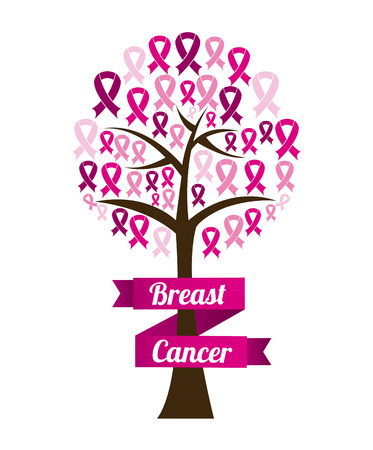 Breast cancer design over white background, vector illustration Vector