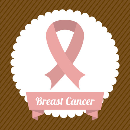 Breast cancer design over brown background, vector illustration Vector