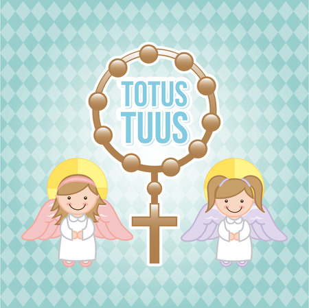 Eucharist design over blue background, vector illustration Vector