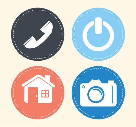 Technology design over beige background, vector illustration Vector