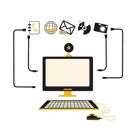 technology design over white background, vector illustration Vector