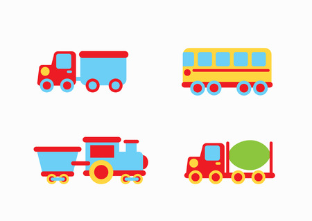 didactic: Toys  design over pink background, vector illustration Illustration