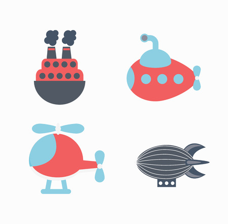 didactic: Toys  design over white background, vector illustration