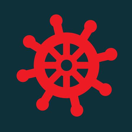 marine design over blue background, vector illustration Çizim