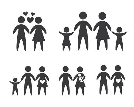 Family design over white background, vector illustration Illustration