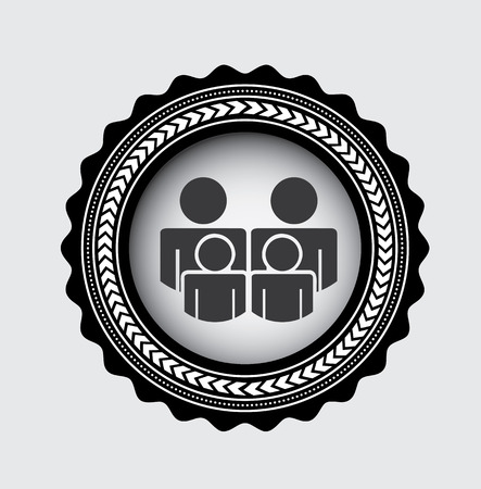 Family design over gray background, vector illustration Illustration