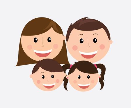 hapiness: Family design over gray background, vector illustration Illustration