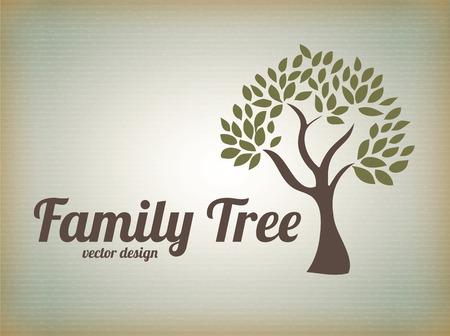 arbol genealógico: Diseño de Familia sobre fondo beige, ilustración vectorial Vectores