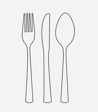 aliment: Menu design over gray background, vector illustration