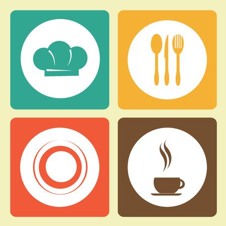 Restaurant menu design over colorful background,vector illustration